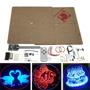 Flat POV 64 LED Rotating Advertising Light DIY LED Flash Kit Electronic LED Production Module