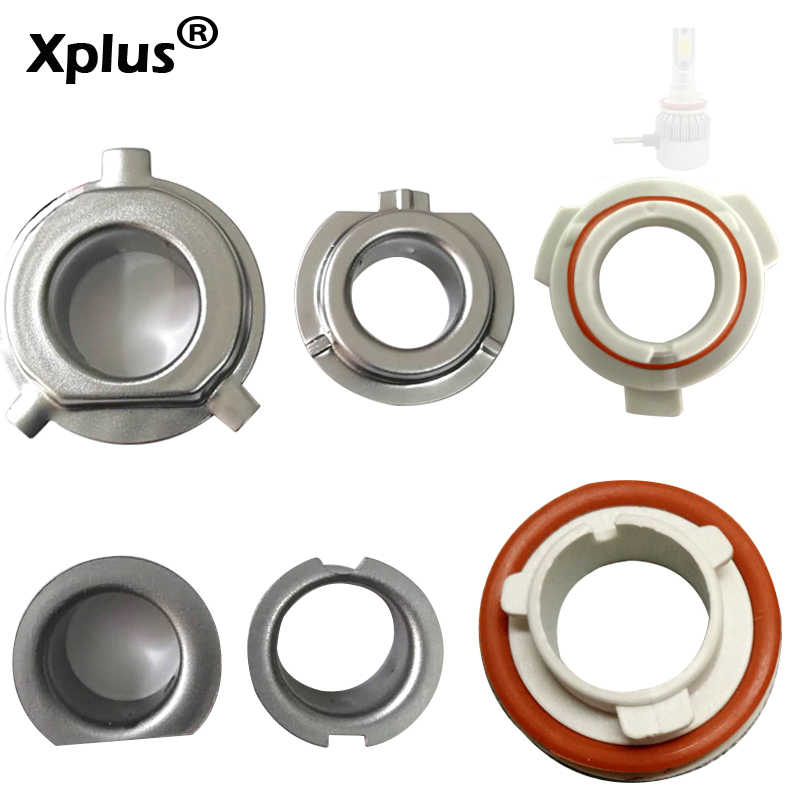 Xplus 2pcs C6 Adapter H1 Socket Headlamp LED Bulb Holder H1 H3H4 H7 H11 9005 9006 Car LED Headlight Bulb Retainer