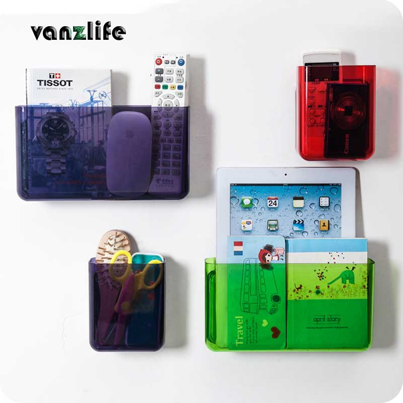 vanzlife relates strong non sticky pasting type wall hanging type storage rack, kitchen and bathroom multipurpose storage frame