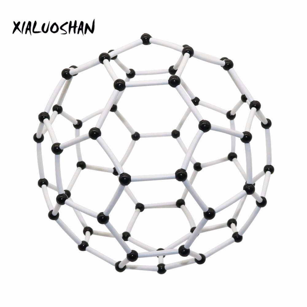 Organic Chemistry Molecular Model Diameter 9mm Carbon 60 Molecular Structure Model Carbon Framework Teaching Experiment Tool