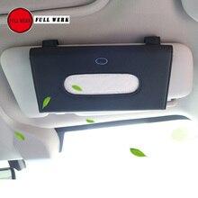 1 шт. из микрофибры стайлинга автомобилей Солнцезащитный козырек Tissue Box клип для Subaru XV Forester висит ткани хранения держатель дело контейнер