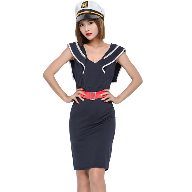 Cute Police Officers Cosplay Costume Halloween Costumes Performance Female Sailor Navy Blue Disfraces Exotic Clothes 11173H200  sc 1 st  AliExpress.com & Cute Police Officers Cosplay Costume Halloween Costumes Performance ...