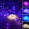 5 m 50 LED fio de prata AA bateria LED String natal impermeável ao ar livre luzes de fadas branco frio branco quente coloridas