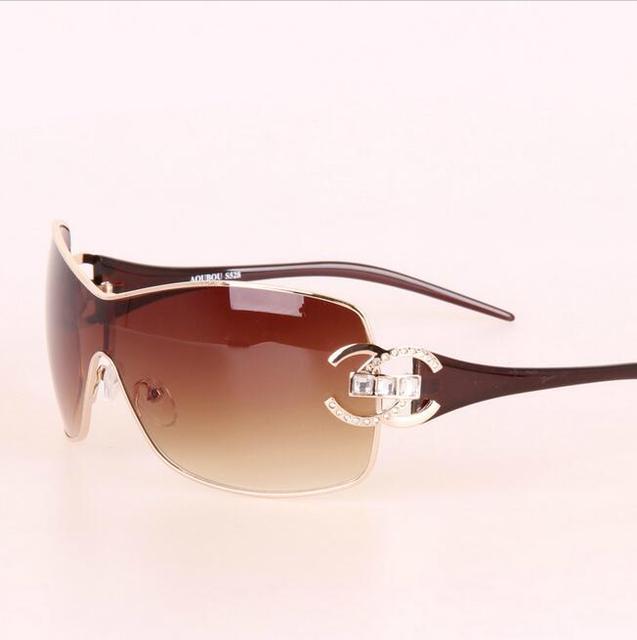 2017 Italia gafas de Sol Mujeres Diseñador de la Marca de Diamantes de Gran Marco Gafas de Sol de Gran Tamaño Para Mujer de Oro Retro Mujer Sunnies Shades