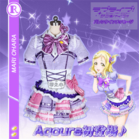 Anime Cosplay Costume Aqours Love Live Sunshine Single series Mari Ohara Dresses Coat Skirt Apron Full Sets D