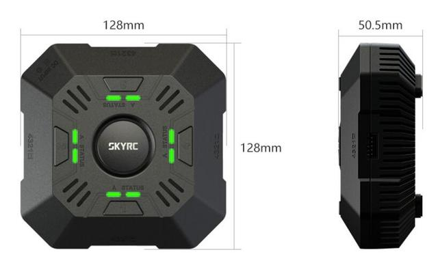 E4Q SKYRC Charger 4 Ports Balance Charger for 2 - 4S LiPo Battery Charger 11-26.1V DC Input XT60 Connector 2A 3A 5A Adjustable