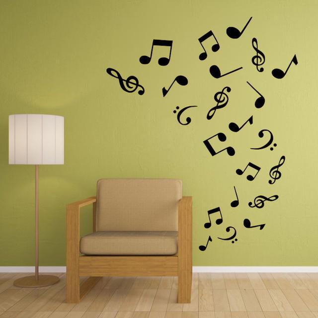 Art Musical Notes Tornado Vinyl Wall Sticker Band Room Decor ...