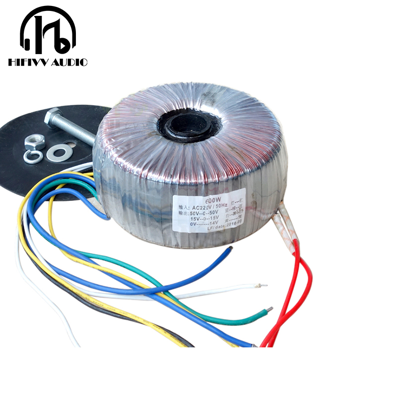 600W transformer power amplifier circular 50 0 50V 15 0 15V 12 0V 220V transformer dedicated