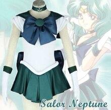 Сейлор Мун Сейлор Нептун довольно платье с бантом форма Костюмы для косплея Хэллоуин Платья для вечеринок Любой размер по индивидуальному заказу