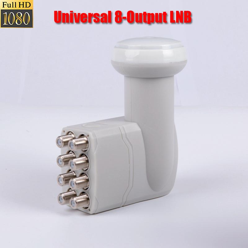 Prix pour Universel 8 sortie lnb Supplémentaire haute qualité numérique réception lnb pour satellite tv dvbs2 bande ku lnb universelle bande ku 8 lnb