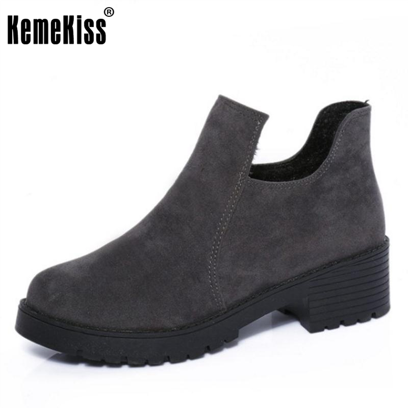 KemeKiss  Sweety Ladies Winter Snow Boots For Women Thick Fur Candy Color Ankle Botas Female Agrafe Flat Shoes Women Size35-40 2016 rhinestone sheepskin women snow boots with fur flat platform ankle winter boots ladies australia boots bottine femme botas