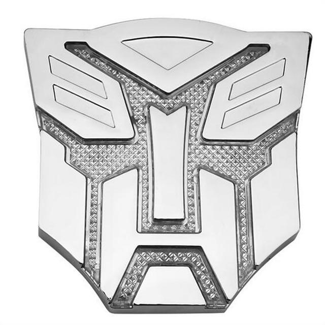 Solar 4colors Led Sticker Autobot Car 3d Decepticon Logo Emblem