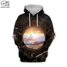 spacecraft Galaxy universe Men 3d Hoodies Unisex spaceship Print long sleeve Sweatshirts harajuku Streetwear Autumn women hooded