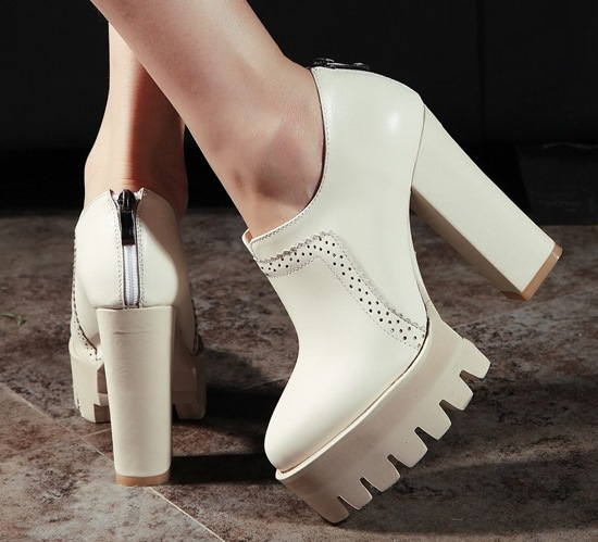 ФОТО Hot sale Casual women pumps style platform Full Grain Leather shoes Pointed toe high heels 9cm party wedding shoes