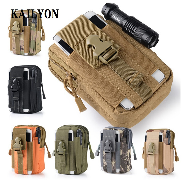 Outdoor Tactical Holster Military Molle Hip Waist Belt Bag Wallet Pouch Purse Zipper Phone Case For Cat S30 S40 S50 S60
