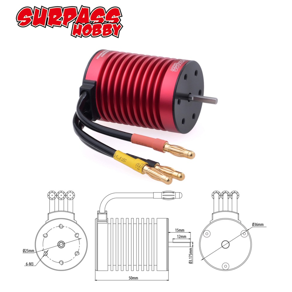 Image 2 - F540 3.175mm Brushless Motor 3000KV 3300KV 3930KV 4370KV for 1/10 RC Tamiya Axial Redcat HSP Drift Racing Off road Car-in Parts & Accessories from Toys & Hobbies