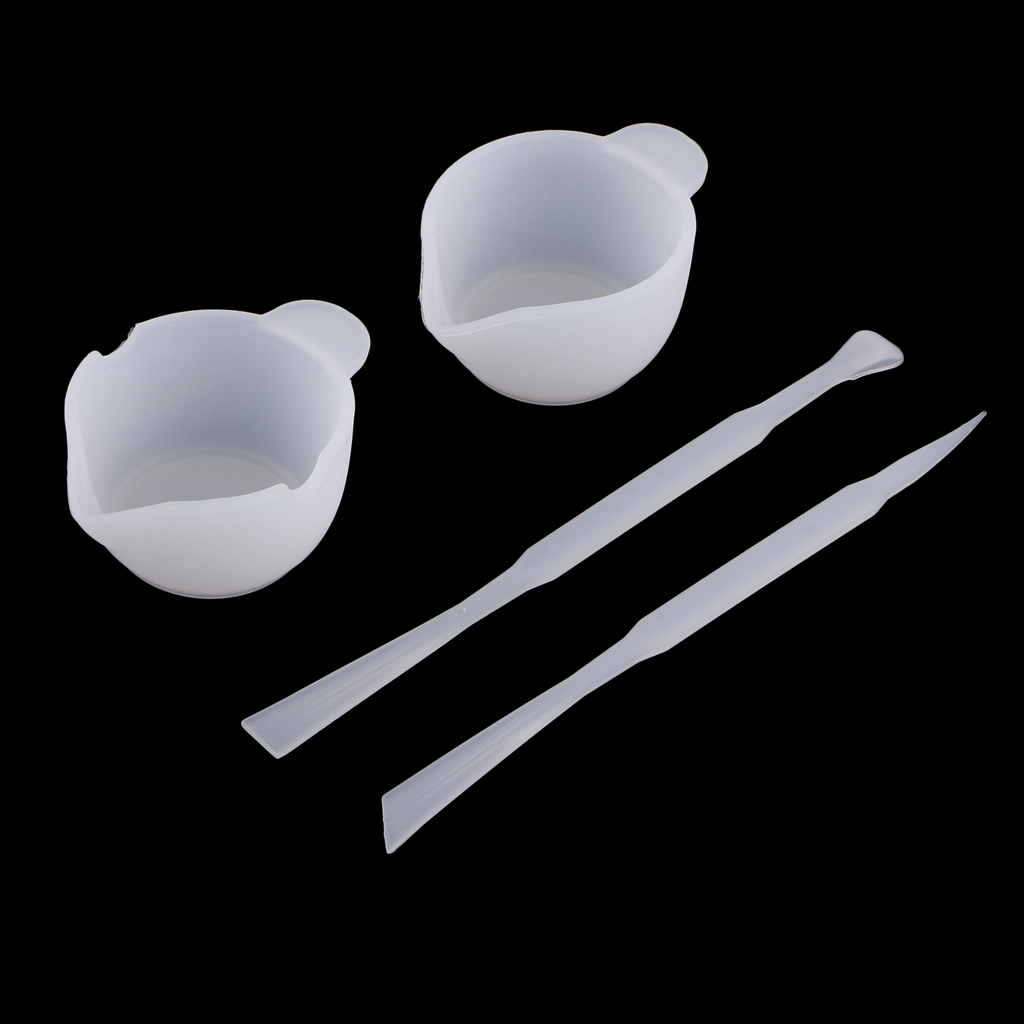4pcs Silicone Epoxy Resin Mixing Cups Distribution Measuring Cup & Stirring Rods Stick DIY Resin Glue Tools For Jewelry Making