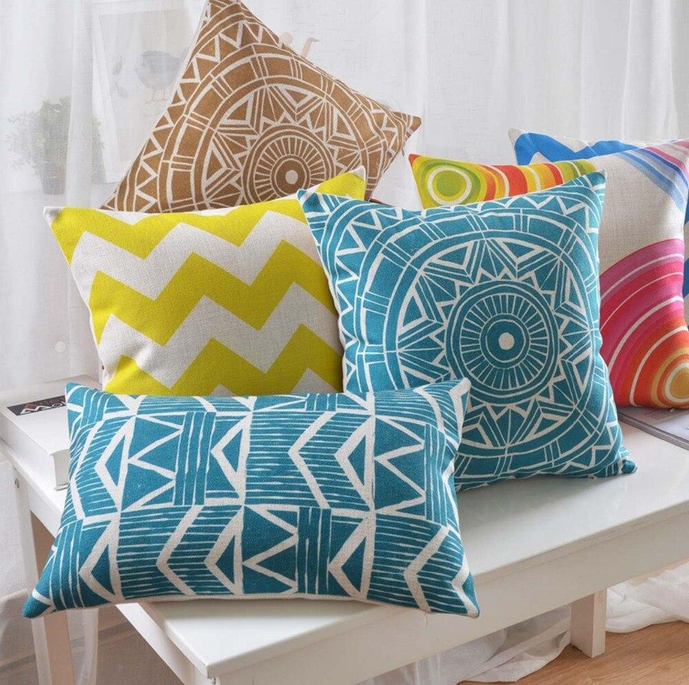 Free Shipping!!Luxury geometric square throw pillowalmofadas case,classic modern european marine cushion cover home decore