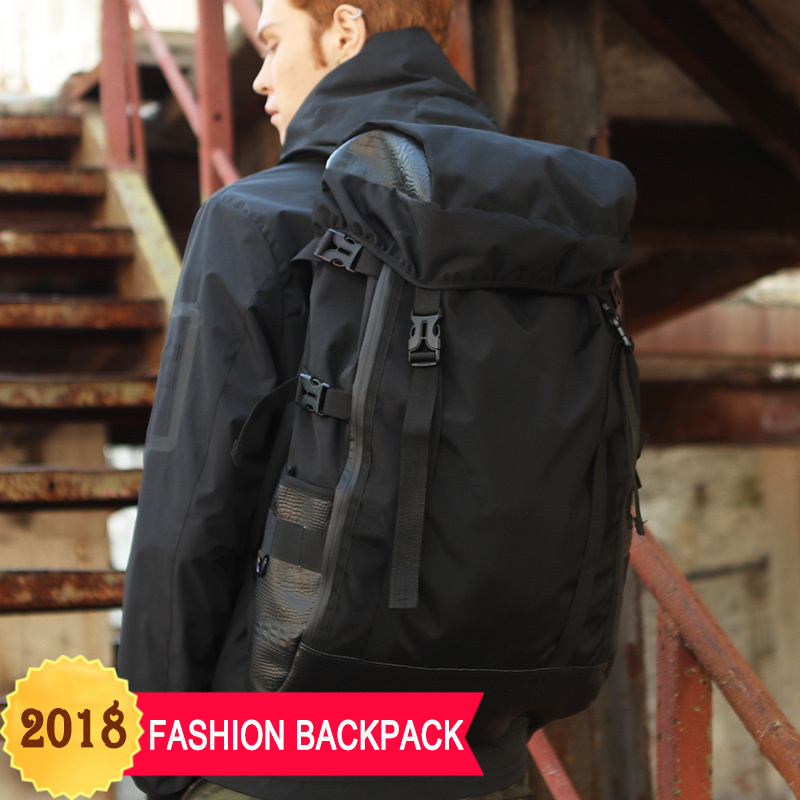 2018 Design New Travel Backpack Men Large Capacity Multi-function Mochila Fashion Student School Bag Casual Male Laptop Backpack men original leather fashion travel university college school book bag designer male backpack daypack student laptop bag 9950