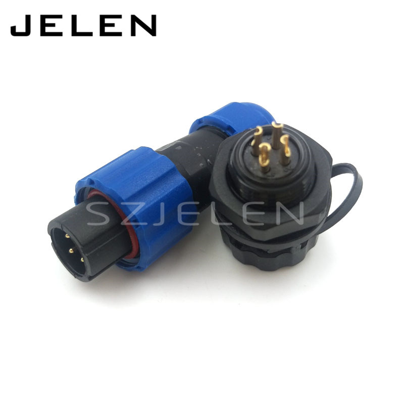 SD13 , 4 pin cable connectors waterproof 250v sockets led cabinet Power connector, 4pin waterproof panel mount connector,IP68 sd13 4 pin cable connectors waterproof 250v sockets led cabinet power connector 4pin waterproof panel mount connector ip68