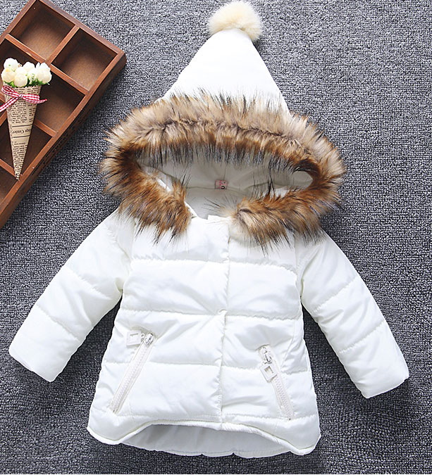 2017 New Girls Winter Jackets Kids Hooded Coats Thick 1-6Y Children's Warm Parkas Baby Brand clothes High quality Outdoor
