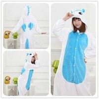 Autumn Spring Winter Flannel Lovers Couples Women Animal Pajamas One Piece Cartoon Sleepwear Cheap Adult Animal