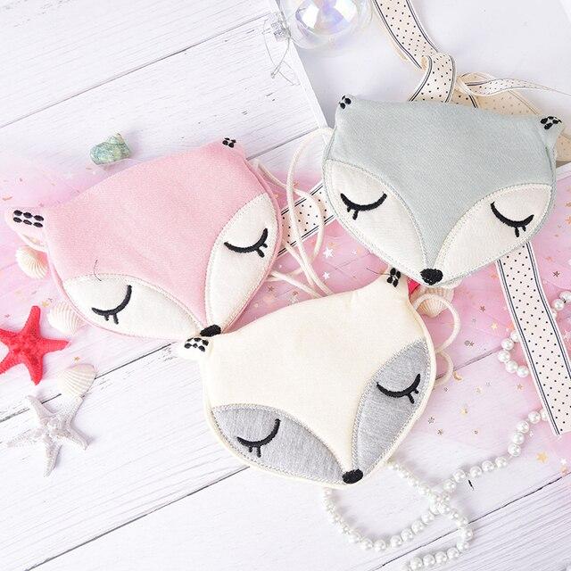 Cute Fox Messenger Bag Lovely Children One Shoulder Bag Kids Coin Purse Girls Baby Coin Bags