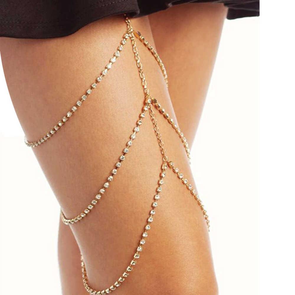 2019 טרנדי חוף בוהמיה סגנון חדש תכשיטים זהב צבע רגל שרשרת לנשים סקסי גוף הצהרת שרשרות אביזרי מתנה