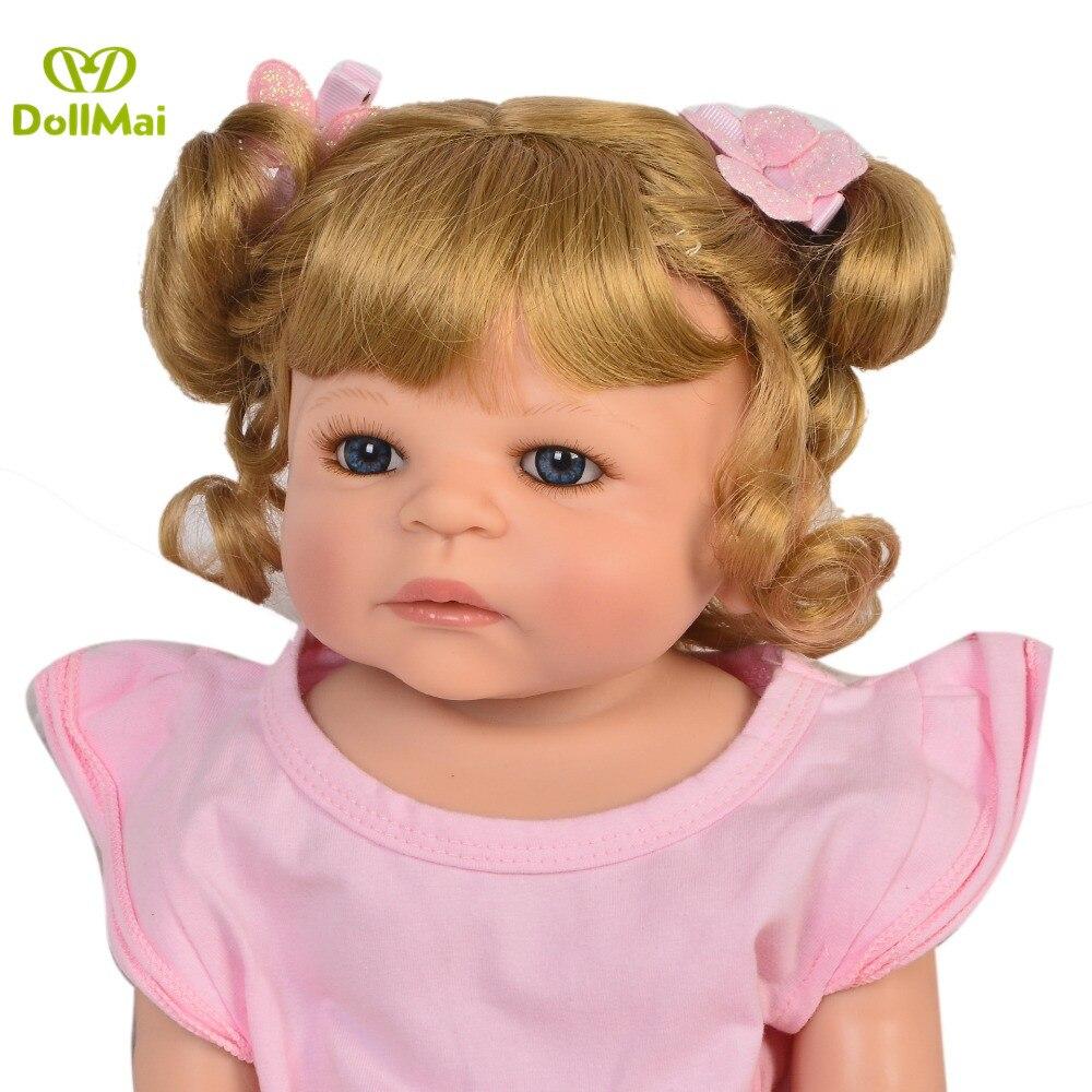 Réel 57 CM Reborn bébé poupées fille corps entier SIlicone réaliste bébés poupée bain jouet nouveau-né bébés Bonecas Bebes Reborn Menina - 4