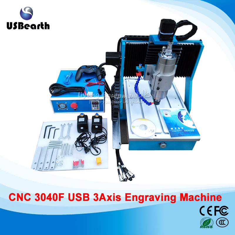 LY square rails CNC 3040F 3 Axis mini Milling Machine 1500W for Wood Metal USB Port acctek mini cnc desktop engraving machine akg6090 square rails mach 3 system usb connection