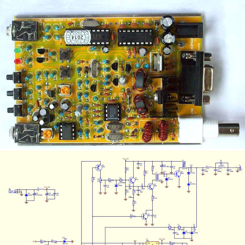 BNC CW Transceiver Receiver 7.023KHz Radio Station Frog Sounds HAM Radio Kit