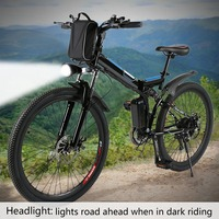26inch 36V Foldable Electric Power Mountain Bicycle With Lithium Ion Battery Mountain Bike Outdoor Camping Mountain