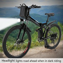 26inch 36V Foldable Electric Power Mountain Bicycle with Lithium-Ion Battery Mountain Bike Outdoor Camping Mountain