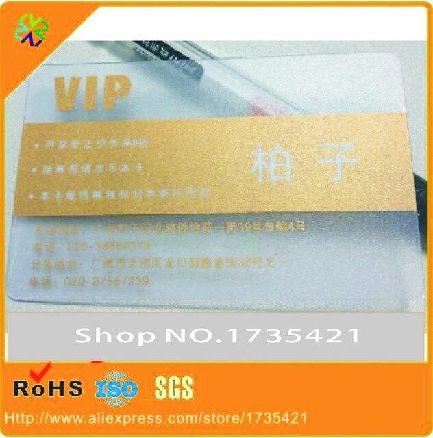 200 Pcs Lot VIP Cartes Avec Pvc Clair De Visite