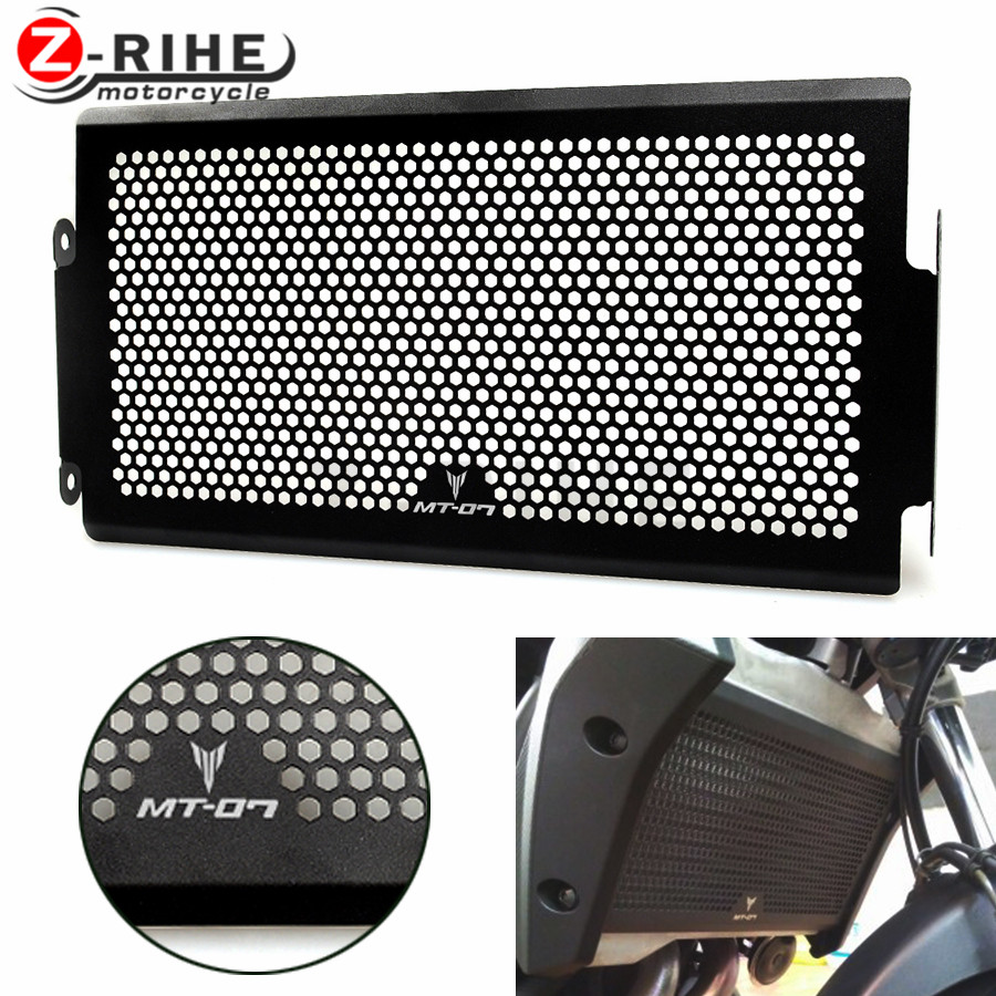 FOR Hot sales BLACK Frosted Style Motorcycle Radiator Grille Guard Cover Protector For YAMAHA MT07 MT-07 mt 07 FZ-07 2014 2015 2 arashi motorcycle radiator grille protective cover grill guard protector for 2008 2009 2010 2011 honda cbr1000rr cbr 1000 rr
