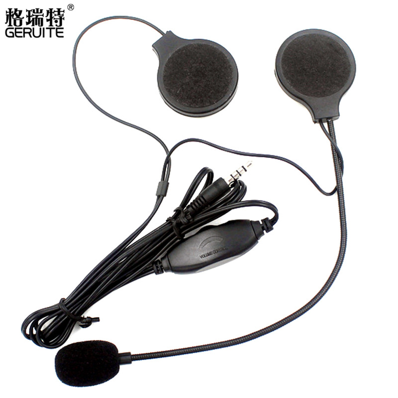3 5mm Motorbike Motorcycle Helmet Stereo Speakers Headphones Volume Control Earphone for MP3 font b GPS