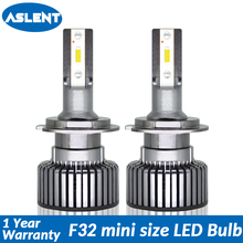 Aslent 2pcs mini size LED H7 H4 H1 H11 H3 HB2 9005 HB3 9006 HB4 9004 9007 9012 Car Headlight Auto Lamp 6000K 60W 10000LM 12v 24v