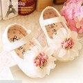 Sweet Baby Girl Caminhantes Primeiro Novo 2016 Bonito Flores Suaves Sapatos de Bebê Da Princesa Shoes #2711
