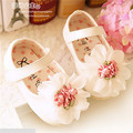 Sweet Baby Girl First Walkers New 2016 Cute Flowers Soft Baby Shoes Princess Shoes #2711
