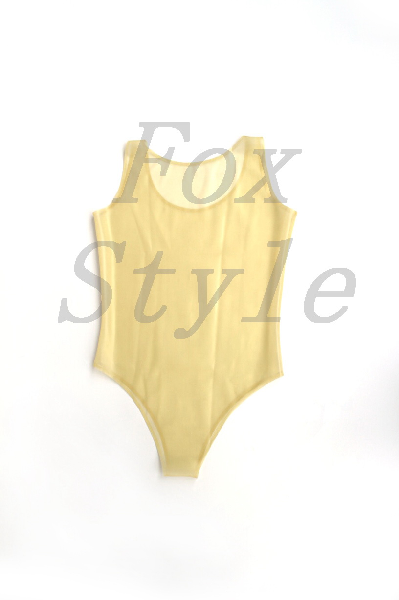 Latex transparent female's rubber bodysuit clear for woman fox style <font><b>SEXY</b></font> <font><b>LIFE</b></font> catsuit <font><b>bikini</b></font> vest sleeveness image