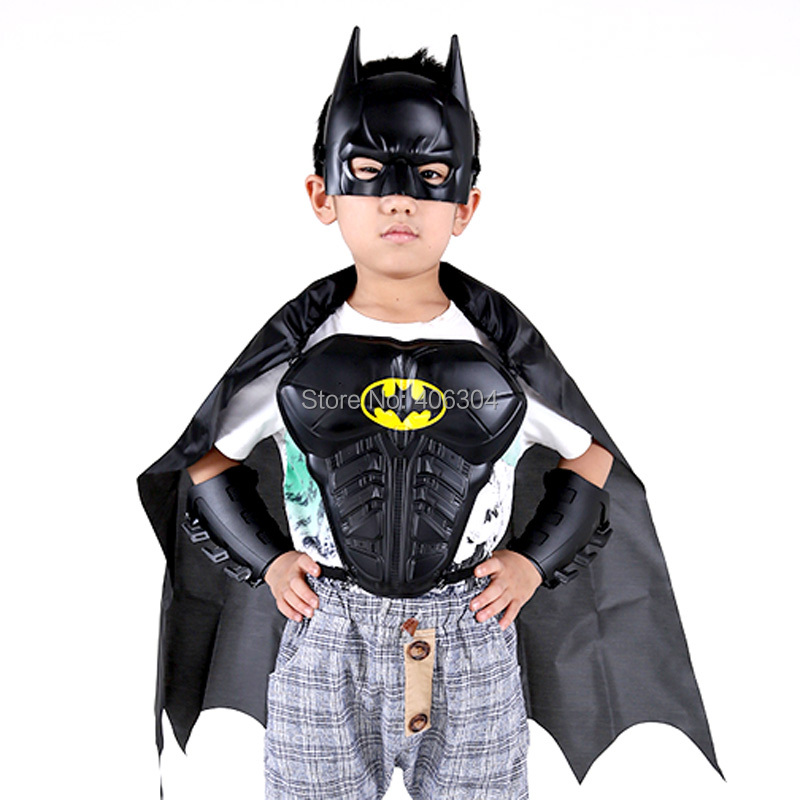 Free shipping,halloween Cosplay  children boy batman  Stage Shown Props,batman armor+mask+arm guard+cloak