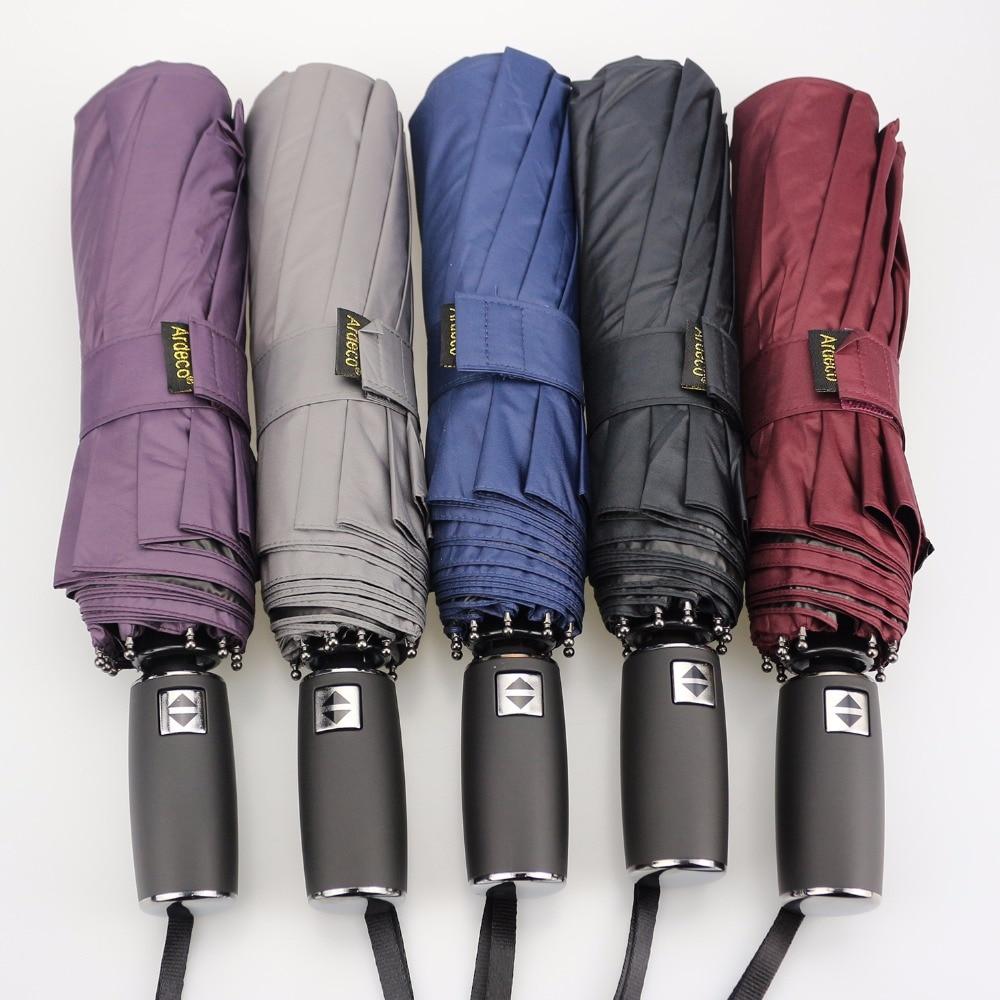 JESSE KAMM Fully Automatic Strong Compact Folding Rain Shine Umbrellas For Women Men Fashion 2017 Anti