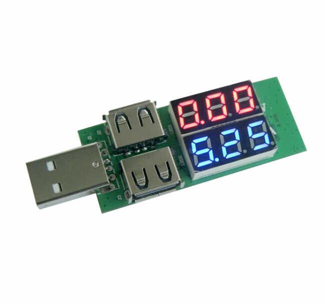 Officiel iSmaring USB testeur de tension de courant mètre USB ampèremètre de tension USB détecteur Double rangée montre nouveau détecteur de charge bricolage