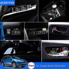 De coches de Estilo de Color Negro Para Toyota RAV4 2016-2017 Lentejuelas decoración Del Coche Interior Del Coche puerta interior tazón pegatinas lentejuelas etiqueta
