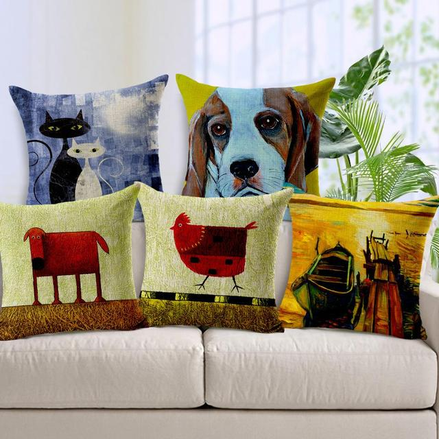 Europe Animal Dog Cushion Cotton Linen Cushion For Large Floor ...