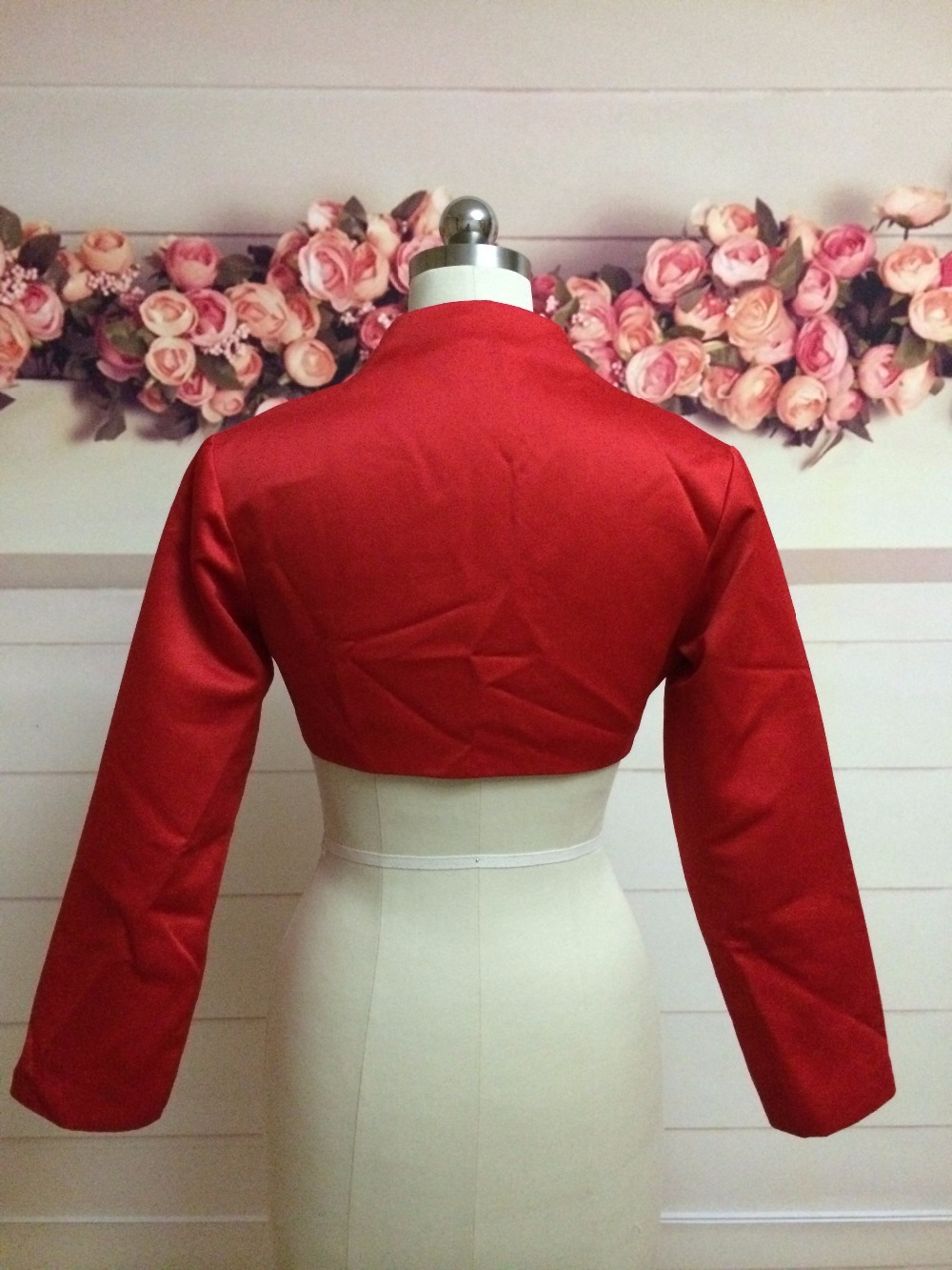 Bolero Rouge Mariage destiné 100% réel photo rouge bolero partie de soirée veste de mariage