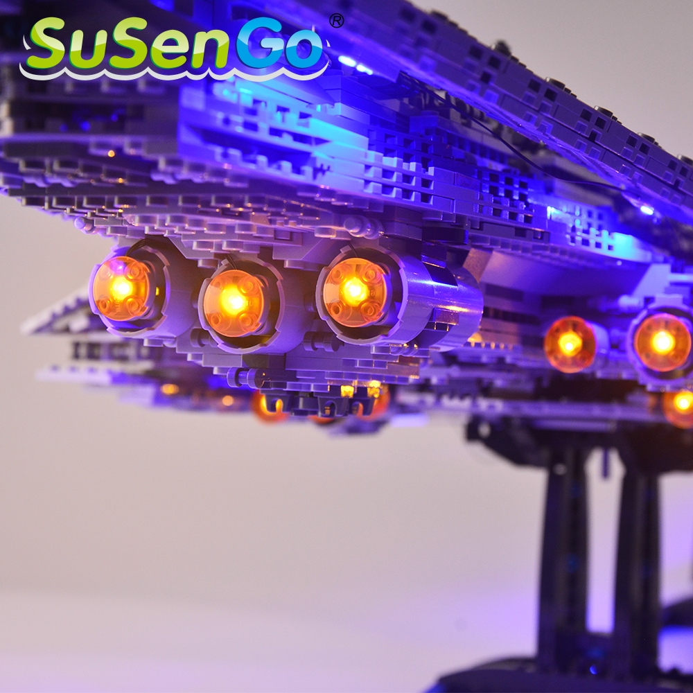 SuSenGo Led Light Kit For Super Star Destroyer Compatible With 10221 And 05028  Light Set (NOT Include The model)-in Blocks from Toys & Hobbies    3