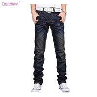 Coromose Nowy Jesień Zima Moda Denim Jeans Men Spodnie Na Co Dzień Spodnie Nowe Designerskie dżinsy męskie Casual Dark Blue Pant Trouse