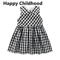 2017 Summer Plaid Baby Girl Dress 1 year birthday dress vestido infantil party wedding baby girl dresses 1pc baby girl dress