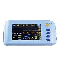 Ручной 6 параметр Vital sign монитор пациента ЭКГ НИАД Spo2 Пульс Температура 2016